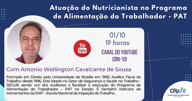 Evento online sobre a Atuação do Nutricionista no Programa de Alimentação do Trabalhador – PAT