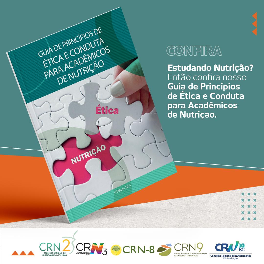 CRN-10 participa de live de lançamento do Guia de Princípios de Ética e Conduta para Acadêmicos de Nutrição